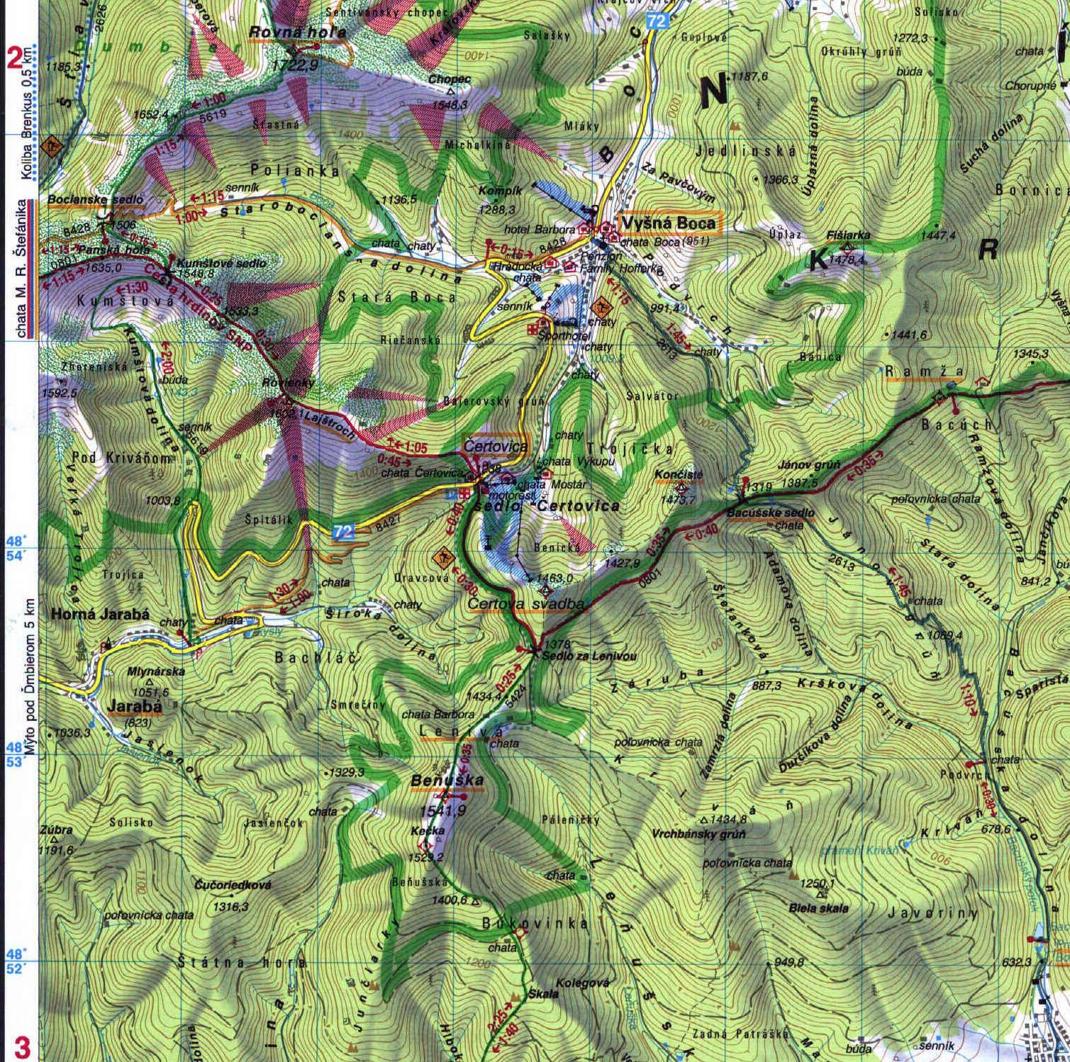 mapa benuska