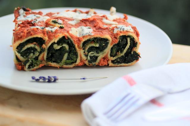 spenatove lasagne