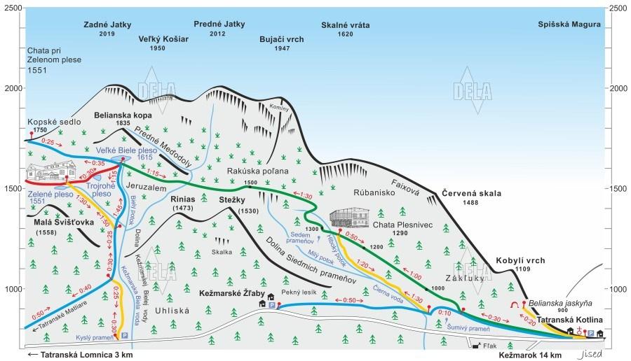 chata plesnivec mapa