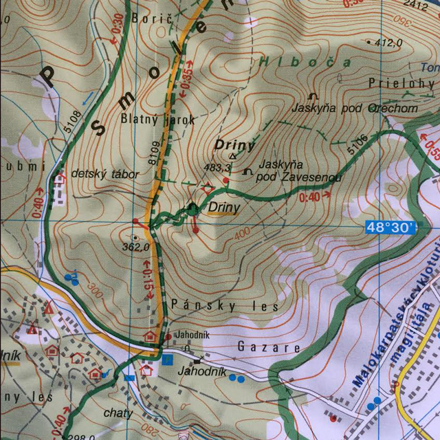jaskyna-driny-mapa