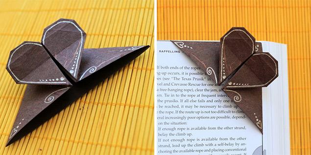 origami zalozka do knihy