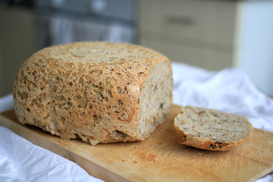 celozrnny chlieb recept