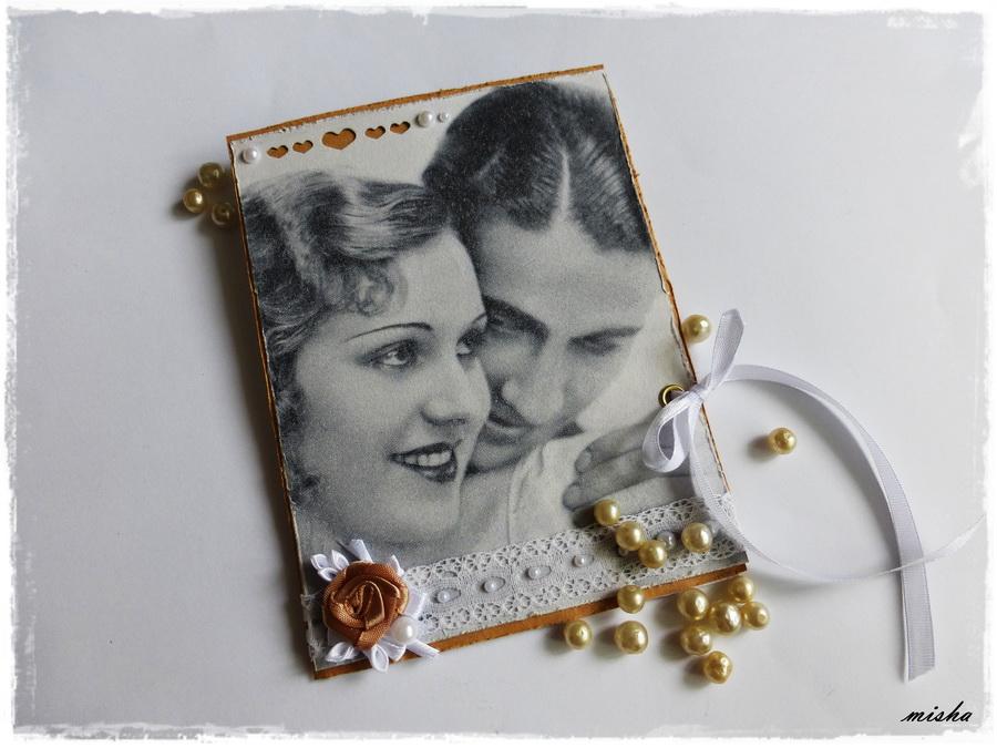 vintage svadba pohladnica