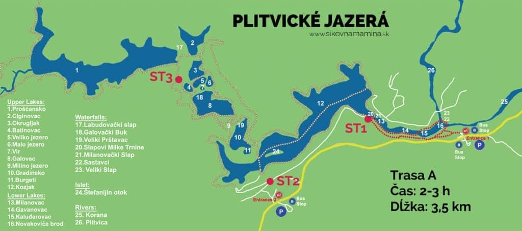 plitvicke jazera mapa